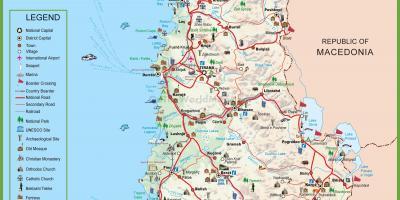 Albanie Mapa Mapy Albanie Jizni Evropa Evropa